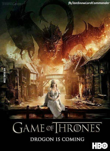 game of thrones season 7: Dragons of 747s size