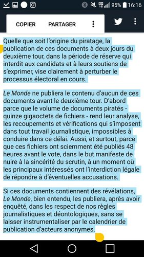MacronLeaks : la position du journal Le Monde