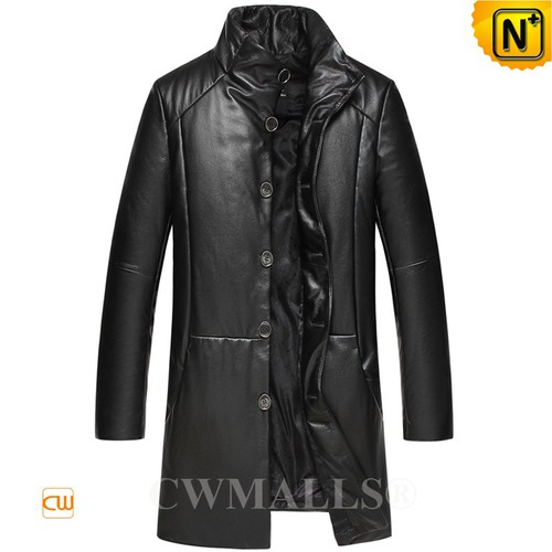 CWMALLS® Albany Leather Down Coat Plus Size CW817003