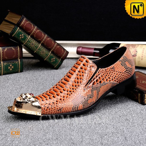 CWMALLS® Cheyenne Embossed Leather Shoes CW707006