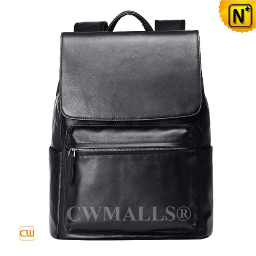 CWMALLS® Kansas City Leather Flap Backpack CW907231