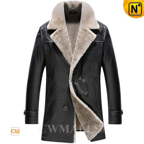 CWMALLS® Anchorage Shearling Double Breasted Coat CW890013