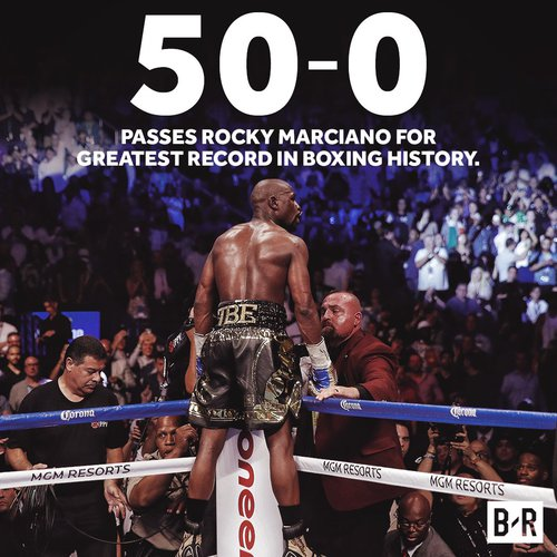 Mayweather makes history.
