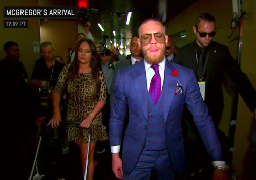 #MayweathervMcgregor : Mc gregor Arrival for the fight