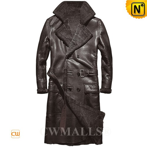CWMALLS® Madison Vintage Sheepskin Trench Coat CW807609[Updated Styles 2017]