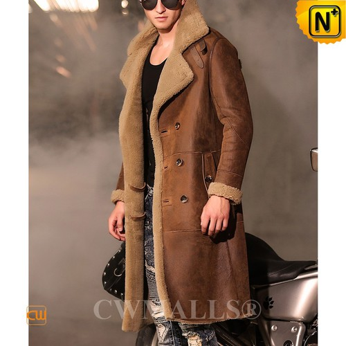 CWMALLS® Omaha Double Breasted Sheepskin Coat CW807610[Updated Styles 2017]