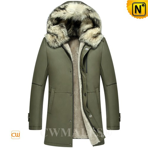CWMALLS® Billings Calfskin Leather Shearling Parka CW807655[Updated Styles 2017]