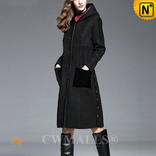 CWMALLS® Madision Reversible Hooded Sheepskin Coat CW652136[Updated Styles 2017]