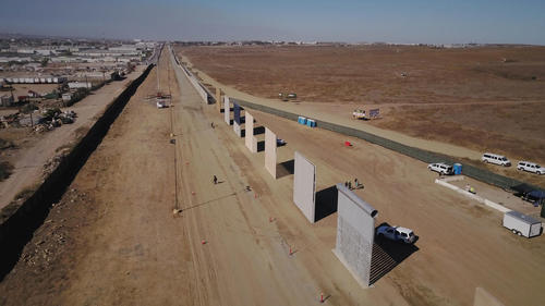 Trump border wall prototypes finished - The San Diego Union-Tribune