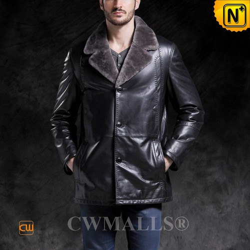 ROMANIAN Brand   CWMALLS® Constanta Shearling Leather Coat CW890011[Patented Leather Jacket]