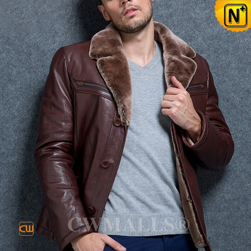 ITALIAN Brand   CWMALLS® Milan Shearling Lined Leather Jacket CW890008[Patented Leather Jacket]