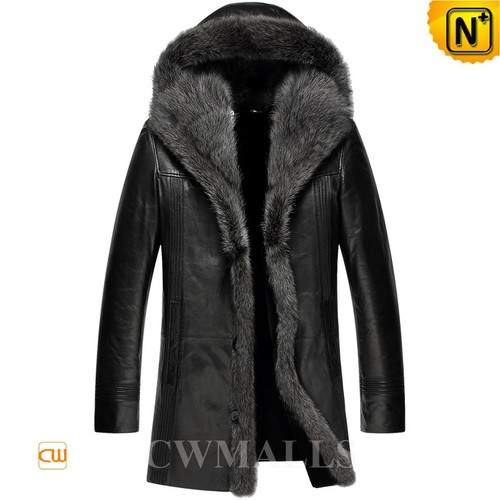 SWEDISH Brand   CWMALLS® Stockholm Fur Shearling Coat CW890046[Patented Leather Jacket]