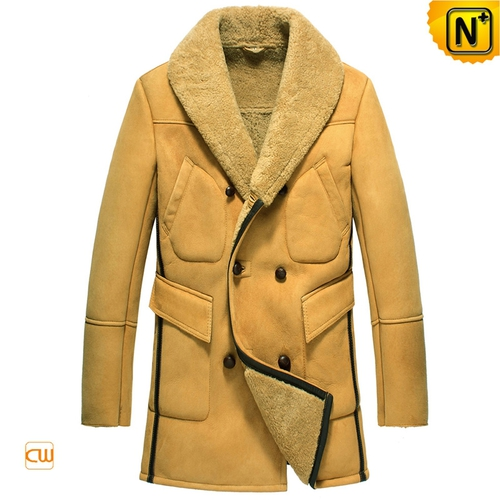USA Brand   CWMALLS® Bismarck Double Breasted Sheepskin Coat CW851423[Thanksgiving Gifts]