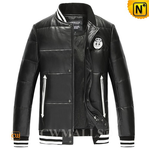 USA Brand   CWMALLS® Anchorage Leather Down Baseball Jacket CW807031[Global Free Shipping]