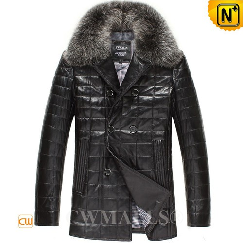 FRENCH Brand | CWMALLS® Paris Leather Down Quilted Jacket CW806105[Black Friday 2017]