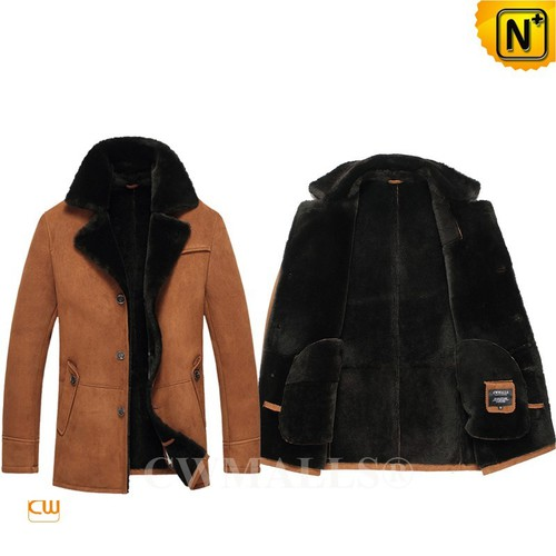 UK Brand   CWMALLS® Glasgow Shearling Suede Coats CW807130[Black Friday 2017]