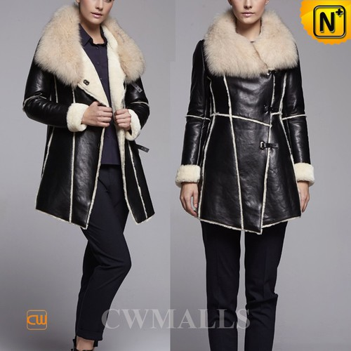 UK Brand | CWMALLS® Glasgow Shearling Lined Sheepskin Coat CW650306[CWMALLS Cyber Monday]