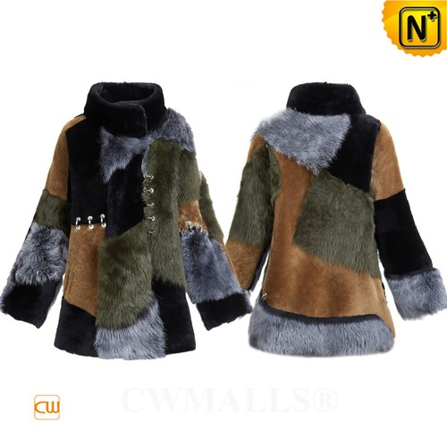 FRENCH Brand | CWMALLS® Marseille Patched Shearling Jacket CW607068[Custom Christmas Gift]