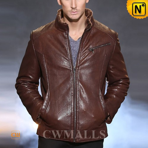 DUTCH Brand | CWMALLS® Rotterdam Brown Shearling Leather Jacket CW857059[Custom Christmas Gift]
