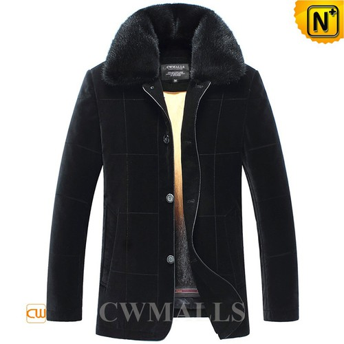 USA Brand | CWMALLS® New York Mink Fur Lined Coat CW857322[Extreme Cold Weather Clothing]