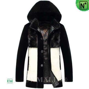 CWMALLS® Glasgow Shearling Fur Parka for Men CW807051[Handmade Product, Global Free Shipping]