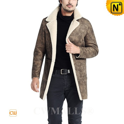 CWMALLS® London Distressed Sheepskin Trench Coat CW807158[Patented Product, Global Free Shipping]