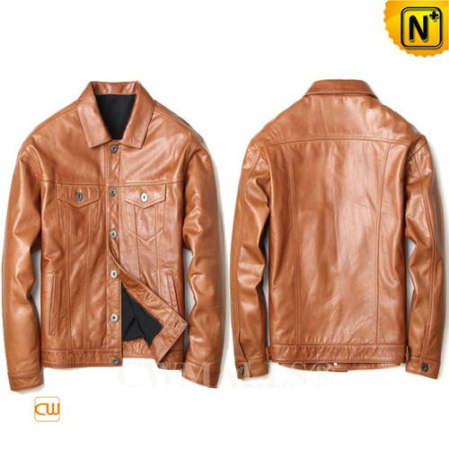 CWMALLS® San Diego Cowboy Calfskin Leather Jacket CW808053[Patented Poduct, Custom Made]