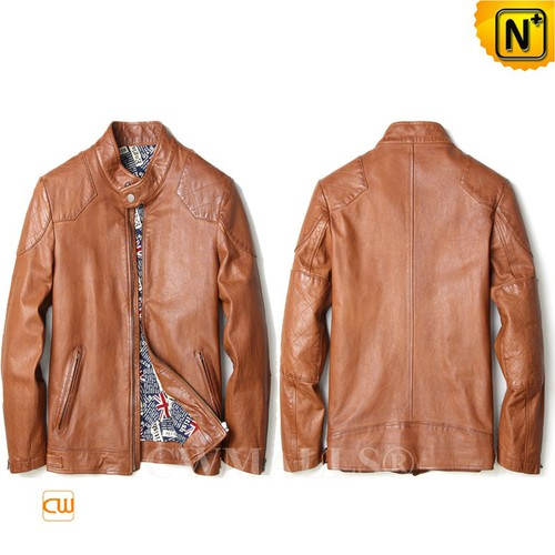 CWMALLS® Albany Calfskin Leather Bomber Jacket CW808051[Patented Product, Custom Made]