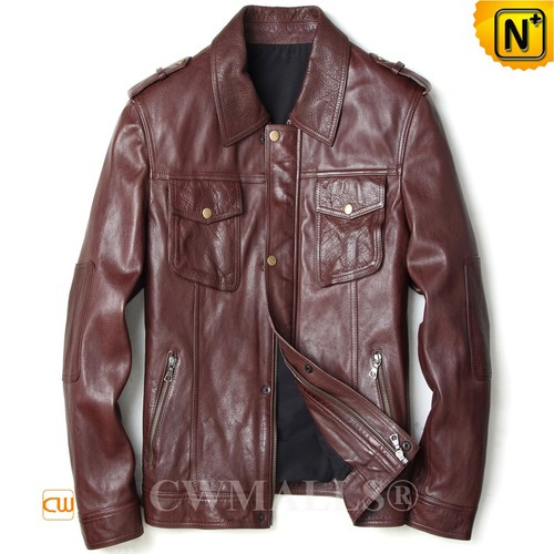 CWMALLS® Hartford Calfskin Leather Cowboy Jacket CW808052[Custom Made, Global Free Shipping]