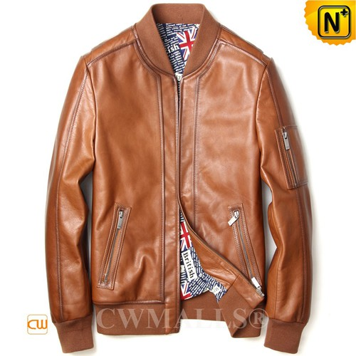CWMALLS® Dallas Calfskin Leather Moto Jacket CW808050[Custom Made, Global Free Shipping]