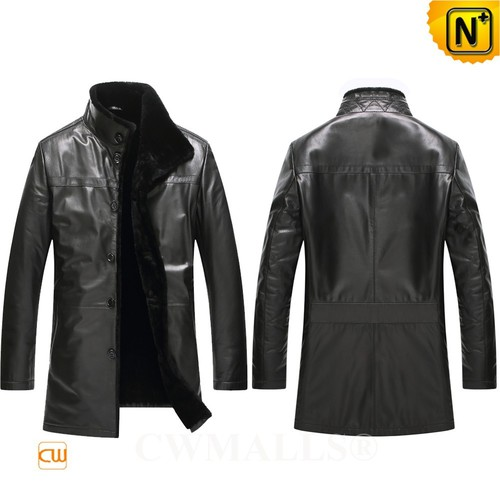CWMALLS® Lansing Winter Leather Shearling Coat CW807811[Custom Made, Global Free Shipping]