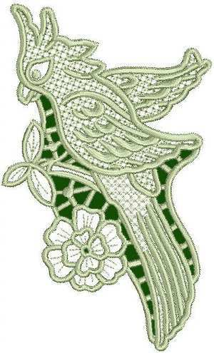 Advanced Embroidery Designs - Parrot Lace