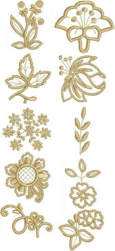 Advanced Embroidery Designs - Flower Embellishment Set