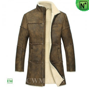CWMALLS® Rochester Retro Sheepskin Coat CW858353[Custom Made, Global Free Shipping]