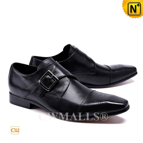 CWMALLS® London Leather Monk Strap Dress Shoes CW708125[Custom Made, Global Free Shipping]