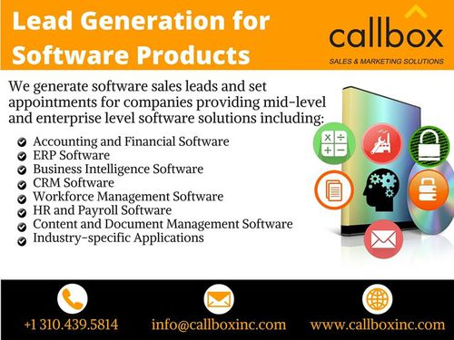 Sales Lead Generation for Software Products - Callbox