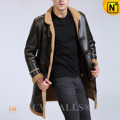 CWMALLS® Rockford Men Retro Sheepskin Trench Coat CW807688[Custom Made, Father's Day Gift]