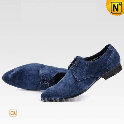 CWMALLS® New York Mens Nubuck Leather Oxfords CW708131[Custom Gift, Global Free Shipping]