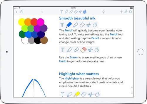Apple iPad: How to sketch on notes using an iPad