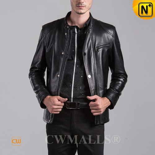 CWMALLS® Bern Leather Motorcycle Jacket CW806051[Custom Gift, Global Free Shipping]