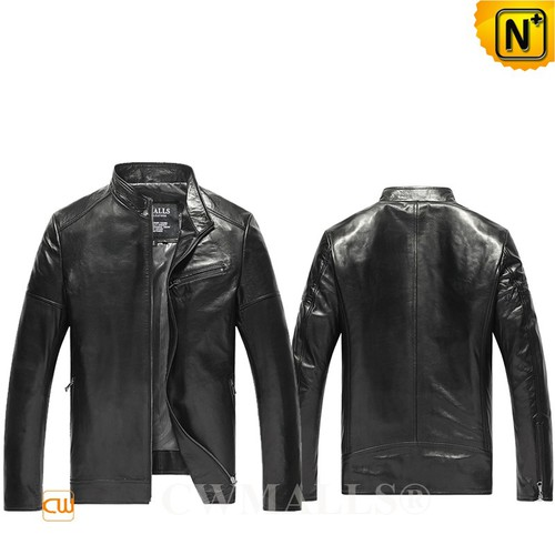CWMALLS® Melbourne Men Leather Bomber Jacket CW806053[Personalized Gift, Made to Order]