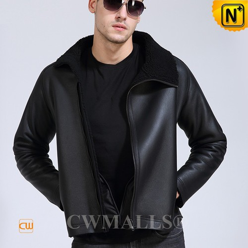 CWMALLS® Canberra Sheepskin Bomber Jacket CW807650[Custom Made, Universal Space Product]