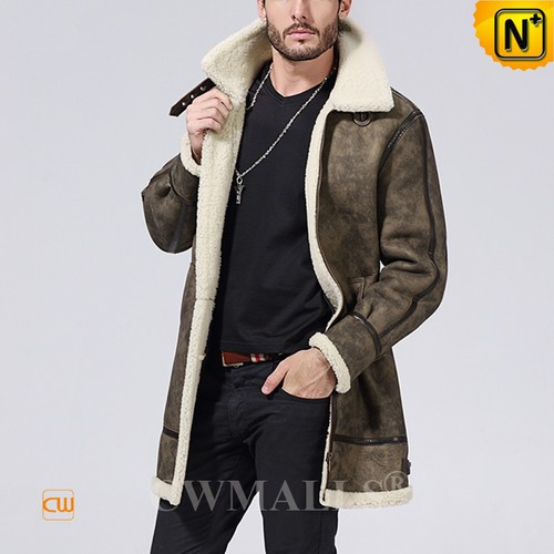 CWMALLS® Santiago Vintage Sheepskin Trench Coat CW808008[Personal Tailor, Custom Gift]
