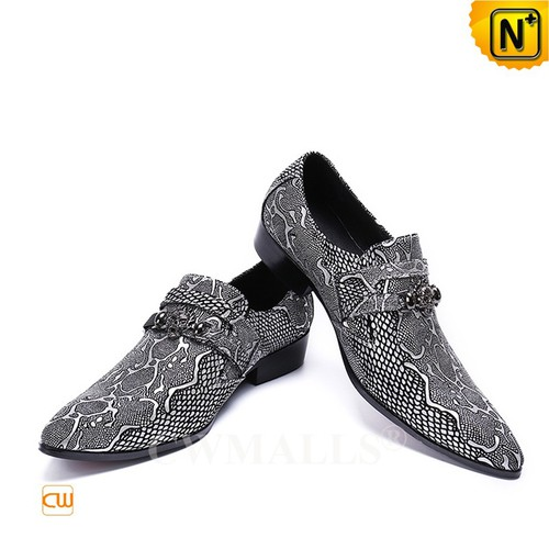 Custom Father's Day Gifts | CWMALLS® Embossed Leather Dress Shoes CW708208[Patented Design]