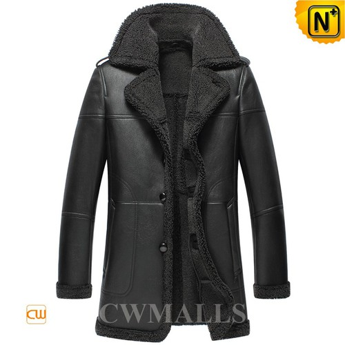 Men Leather Coat | CWMALLS® Nuuk Sheepskin Coat CW858117[Father's Day Gifts, Custom Made]