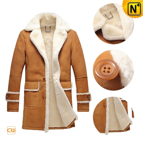 Custom Father's Day Gifts | CWMALLS® Zagreb Sheepskin Coat CW878604[Patented Design, Custom Made]