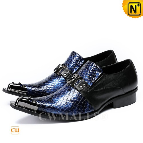 Men Leather Shoes | CWMALLS® Luxembourg Embossed Leather Shoes CW708203[Patented Design]
