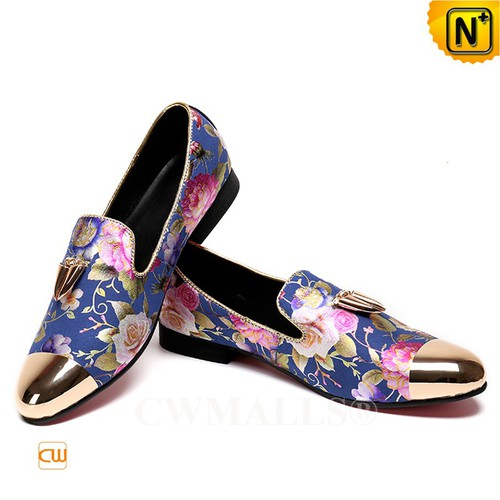 Patented Leather Shoes | CWMALLS® Floral Printed Leather Loafers CW708003[Patented Products]