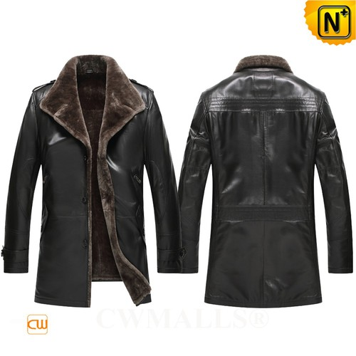 Multifunctional Coats | CWMALLS® Wellington 2 in 1 Shearling Coat CW808015 [Patented Products]
