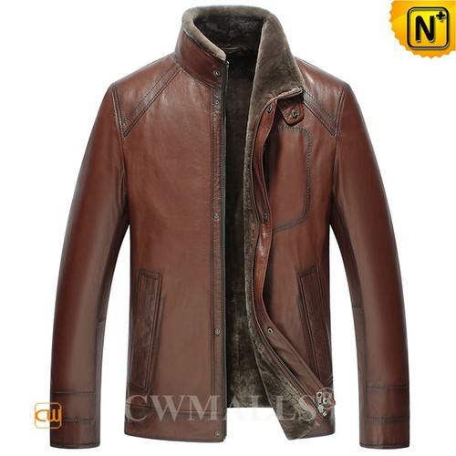 Patented Jackets | CWMALLS® Melbourne Shearling Leather Jacket CW808010 [Custom Made]